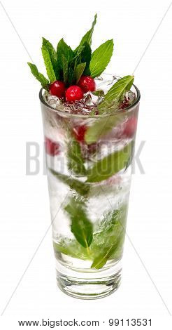 cranberries mint vodka