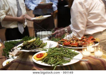Cena en una boda