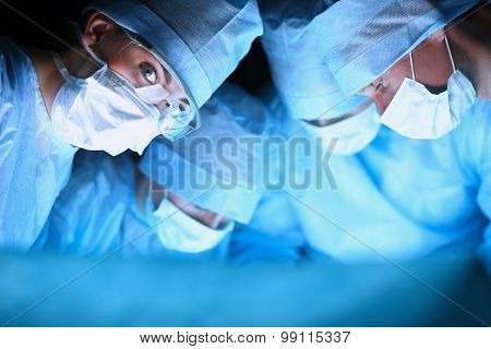 Young surgery team in the operating room