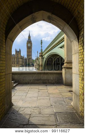 Big Ben And Houses Of Parliament In A Frame, London