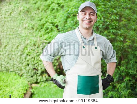 Portrait of a professional gardener