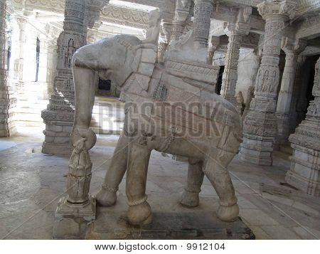 Elephant Sculptures On Column Bases
