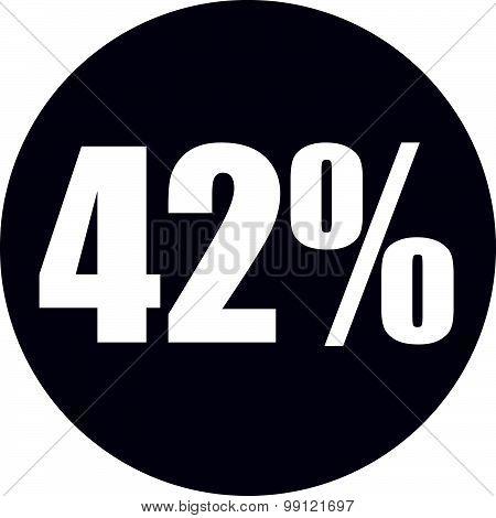 42 Percent Icon
