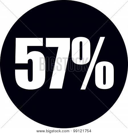 57 Percent Icon