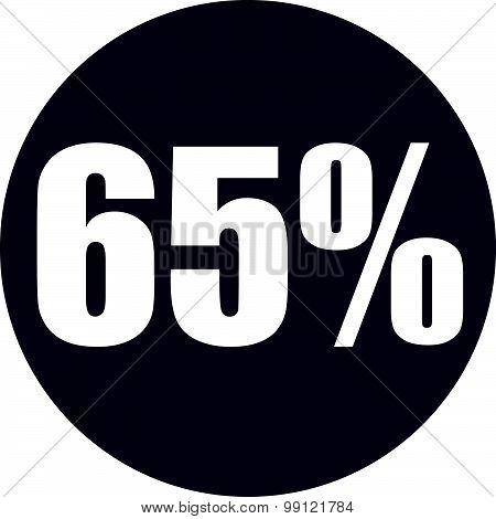 65 Percent Icon