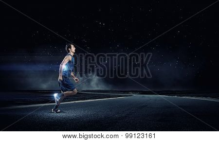 Running sportman