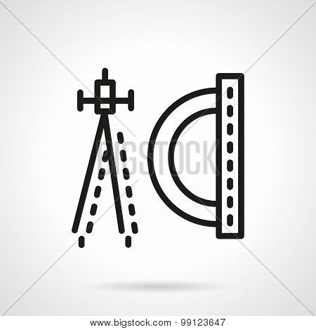 Geometry flat line vector icon