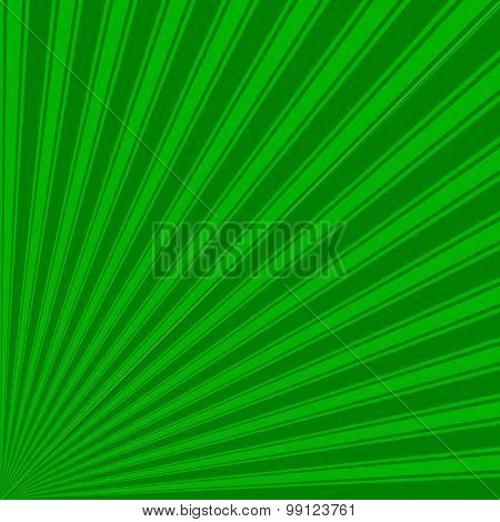 Green Color Stripe Funky Sun Rays Backgound