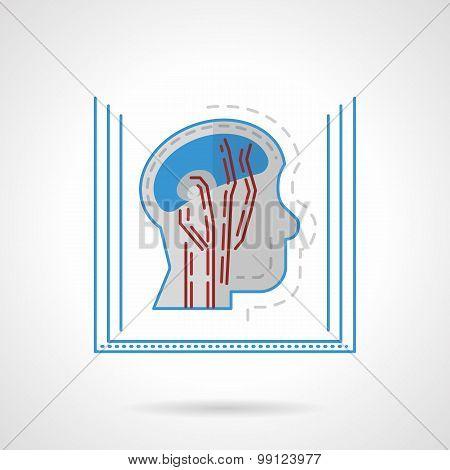 MRI flat vector icon