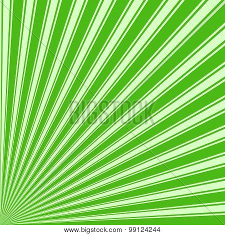 Kelly green Color Stripe Funky Sun Rays Backgound