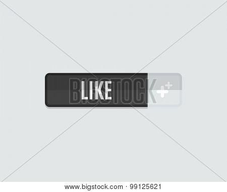Like web button flat design. Modern flat design website icon and design element