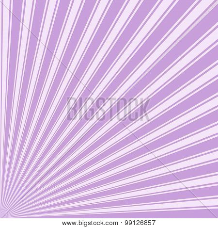 Wisteria Color Stripe Funky Sun Rays Backgound