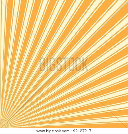 Yellow Orange Color Stripe Funky Sun Rays Backgound
