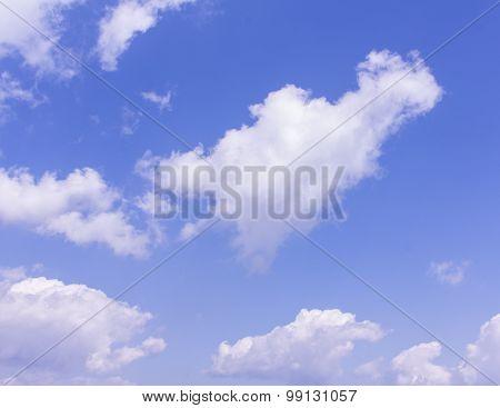 Beauty Blue Sky With Cloud
