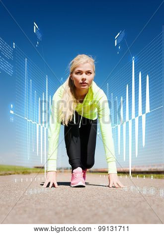 sport and lifestyle concept - concentrated woman doing running outdoors