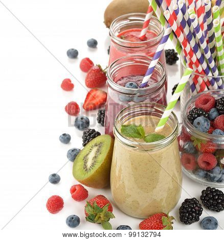 Various Berry Smoothies