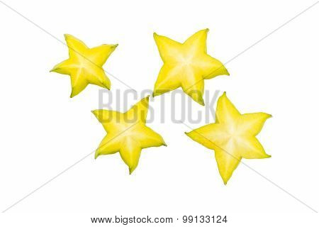 Star Fruit Or Carambola Slice.