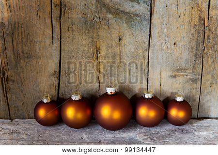 Copper Colored Christmas Balls