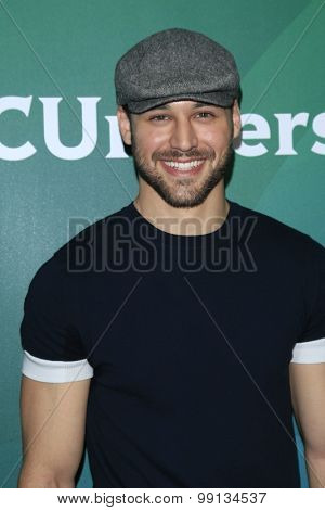 LOS ANGELES - AUG 13:  Ryan Guzman at the NBCUniversal 2015 TCA Summer Press Tour at the Beverly Hilton Hotel on August 13, 2015 in Beverly Hills, CA