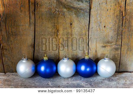 Blue And White Christmas Balls