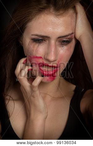 Smeared Make Up