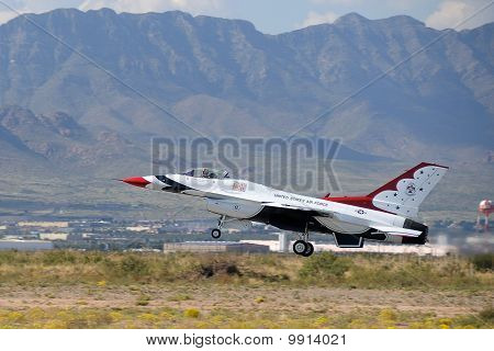 USAF Thunderbird Taking Off