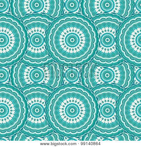 Ornamental seamless pattern, background with many details. Ethnic traditional ornament. Vector illus