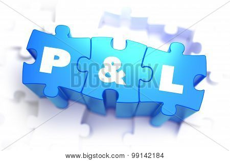 Profit and Loss - White Text on Blue Puzzles.