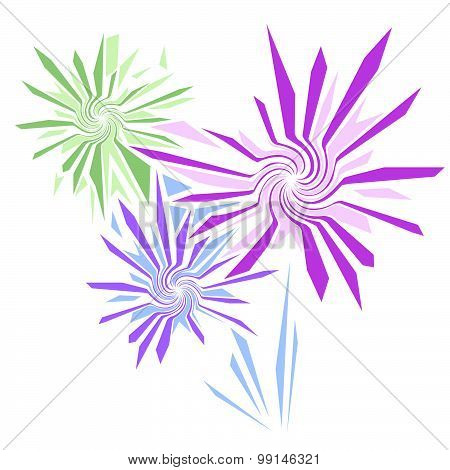 Vector Firework Or Decorative Flowers