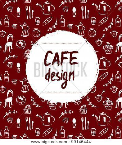 Cafe Menu Design In Retro Sketch Style