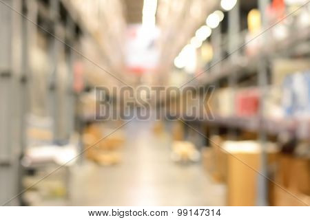 Blur Warehouse Or Storehouse As Background