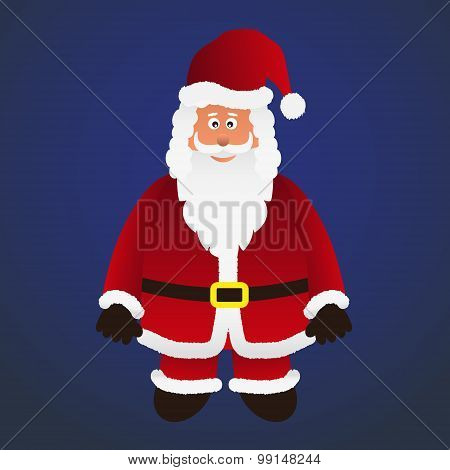 Colorful Cartoon Santa Claus With Red Outfit Eps10