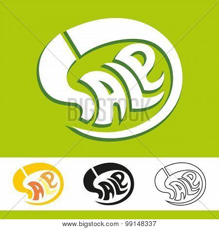 Abstract Vector Illustration Of The Word Sale