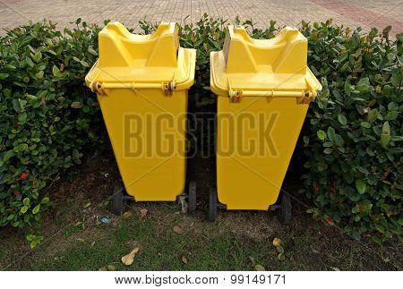Yellow Trashcan