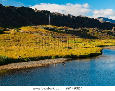 Place of Althing in Thingvellir National park