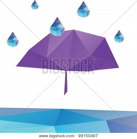 Polygonal umbrella with triangular polygons