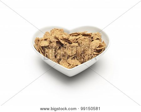 Heart Shaped Healthy Cereal - Stock Image