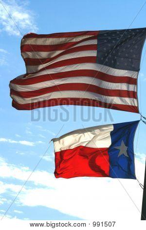 Us & Texas Flag