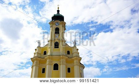 Historical Church Tower Close Up