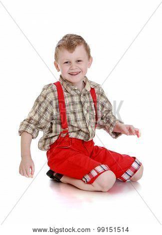 Boy in shorts