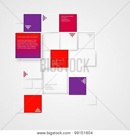 Abstract 3D Squares Background