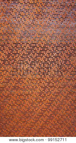 Rustic Perforated Metal Vertical