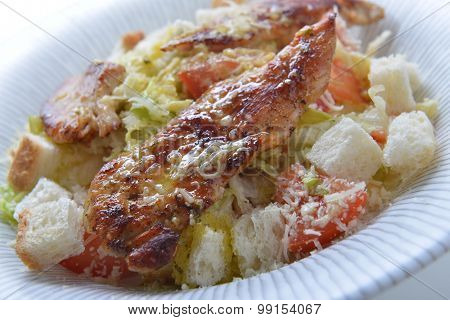 Salad With Crouton And Meat