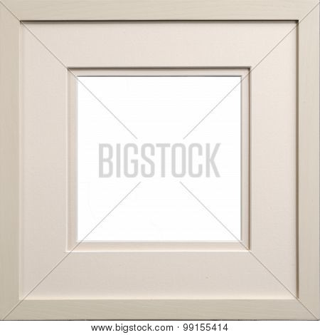 Picture Frame White With Card Insert, Clipping Path For Window