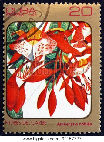 Postage Stamp Cuba 1984 Pride Of Burma, Tropical Tree