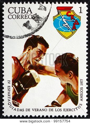 Postage Stamp Cuba 1977 Boxing