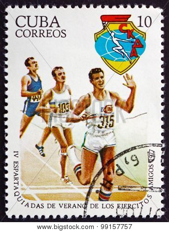 Postage Stamp Cuba 1977 Running