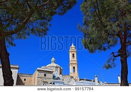 Campanile of Chiesa madre di San Giorgio Martire Locorotondo Apulia Italy