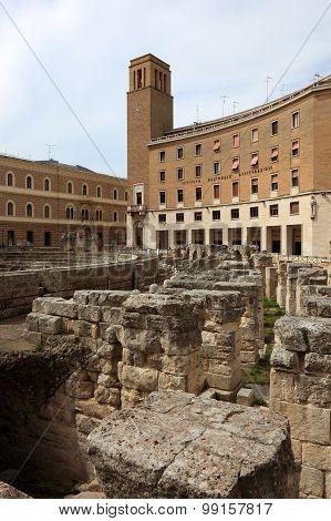 the historical amphie theatre of Lecce Apulia Italy