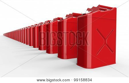 Red Fuel Container Isolated On White With Clipping Path